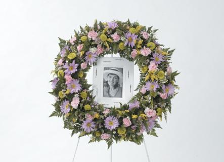 Mixed Flower Standing Wreath