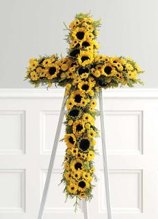 Yellow Sunflower Cross