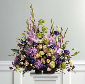 Purple, Peach and Green Traditional Arrangement [SF039-21]
