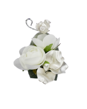 Satin Pearl Boutonniere
