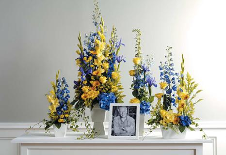 Blue & Yellow Memorial Table