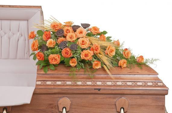 Fall Splendor Casket Spray